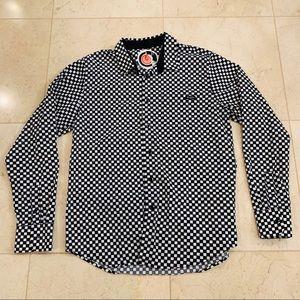 Volcom Black & White Checkered Collared Shirt